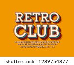 vector bright sign retro club.... | Shutterstock .eps vector #1289754877