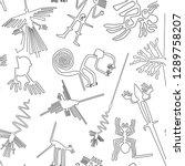 vector seamless pattern  nazca...   Shutterstock .eps vector #1289758207