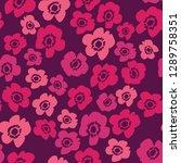 flower pattern. endless... | Shutterstock .eps vector #1289758351