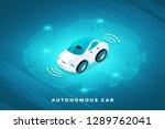 autonomous self driving... | Shutterstock .eps vector #1289762041