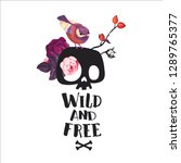 wild and free lettering.... | Shutterstock .eps vector #1289765377