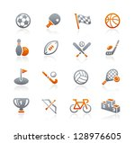 sports icons    graphite series | Shutterstock .eps vector #128976605