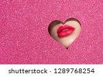 beautiful plump bright lips of... | Shutterstock . vector #1289768254