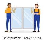construction workers in...   Shutterstock .eps vector #1289777161