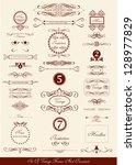set of various vintage labels ... | Shutterstock .eps vector #128977829