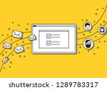 start up web illustration... | Shutterstock .eps vector #1289783317