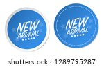 new arrival stickers | Shutterstock .eps vector #1289795287