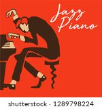 creative vector of piano player.... | Shutterstock .eps vector #1289798224