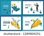 set template landing page ...   Shutterstock .eps vector #1289804251