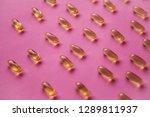 many transparent pills omega 3... | Shutterstock . vector #1289811937