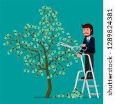 businessman strzhot leaves with ...   Shutterstock .eps vector #1289824381