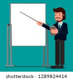 the businessman is giving a...   Shutterstock .eps vector #1289824414