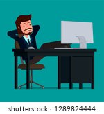 businessman relaxes sitting at... | Shutterstock .eps vector #1289824444