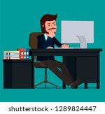 the businessman thought about...   Shutterstock .eps vector #1289824447