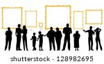 editable vector silhouettes of... | Shutterstock .eps vector #128982695