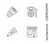 4 line file  cream  eye shadow  ... | Shutterstock .eps vector #1289826994
