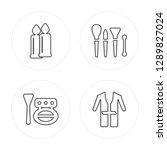 4 line candles  blush  brushes  ... | Shutterstock .eps vector #1289827024