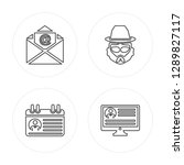 4 line email  profile  hipster  ...   Shutterstock .eps vector #1289827117