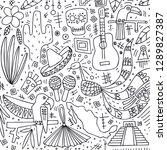 hand drawn illustration. vector ... | Shutterstock .eps vector #1289827387
