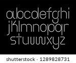 neon linear tube font ... | Shutterstock .eps vector #1289828731