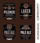 vector beer labels and design... | Shutterstock .eps vector #1289833957