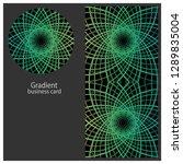line art business card for...   Shutterstock .eps vector #1289835004