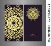 line art business card for...   Shutterstock .eps vector #1289835121