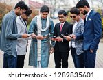 group of six south asian indian ... | Shutterstock . vector #1289835601