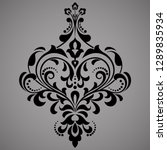 damask graphic ornament. floral ... | Shutterstock . vector #1289835934