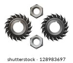 set of isolated machinery... | Shutterstock . vector #128983697