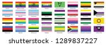 sexual identity pride flags... | Shutterstock .eps vector #1289837227
