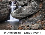 beautiful forest waterfall... | Shutterstock . vector #1289849044