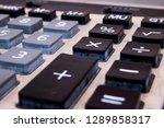 closeup of calculator keypad   Shutterstock . vector #1289858317