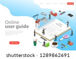 isometric flat vector landing... | Shutterstock .eps vector #1289862691