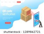 isometric flat vector landing... | Shutterstock .eps vector #1289862721
