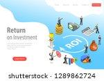 flat isometric vector landing... | Shutterstock .eps vector #1289862724