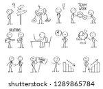 set of stick men figures for... | Shutterstock .eps vector #1289865784
