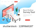 flat isometric landing page... | Shutterstock . vector #1289868187