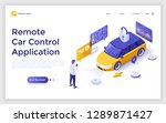landing page with man standing... | Shutterstock .eps vector #1289871427