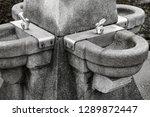 outdoor drinking water fountain  | Shutterstock . vector #1289872447