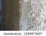 reinforcement wall corner....   Shutterstock . vector #1289874607