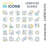 set of vector line icons of... | Shutterstock .eps vector #1289876191
