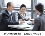 businessman and business team... | Shutterstock . vector #1289879191