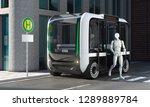 autonomous bus with passenger... | Shutterstock . vector #1289889784