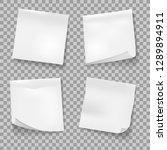 sticky notes. white memo... | Shutterstock .eps vector #1289894911