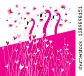 festive greeting card in love... | Shutterstock .eps vector #1289898151