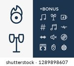 music icon set and quaver with...