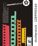 city skyline made from film... | Shutterstock .eps vector #1289900164