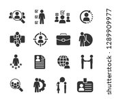 vector set of job hunting icons. | Shutterstock .eps vector #1289909977