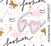 trendy cute childish print....   Shutterstock .eps vector #1289910517